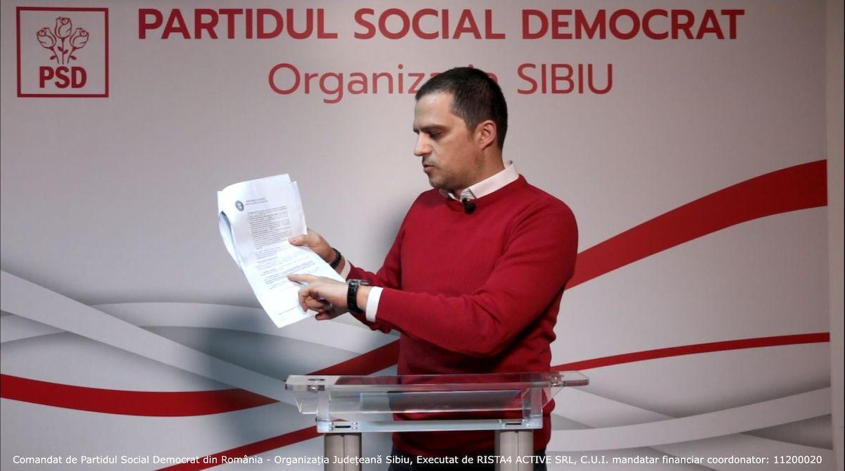 VIDEO. Declarație de presă Bogdan Trif, Președintele PSD Sibiu și candidat pentru Camera Deputaților
