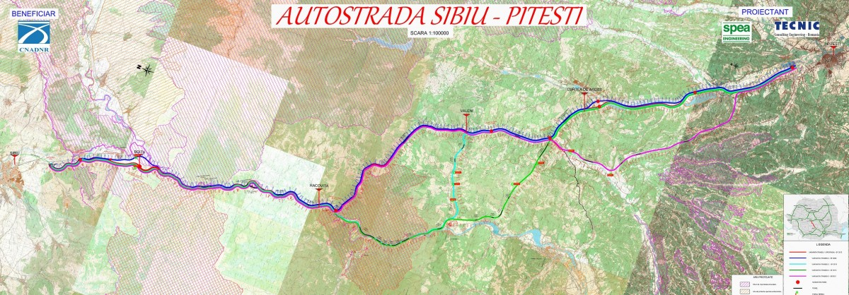 15 oferte depuse pentru proiectarea și execuția Autostrăzii Sibiu-Pitești, secțiunea trei, Cornetu – Tigveni