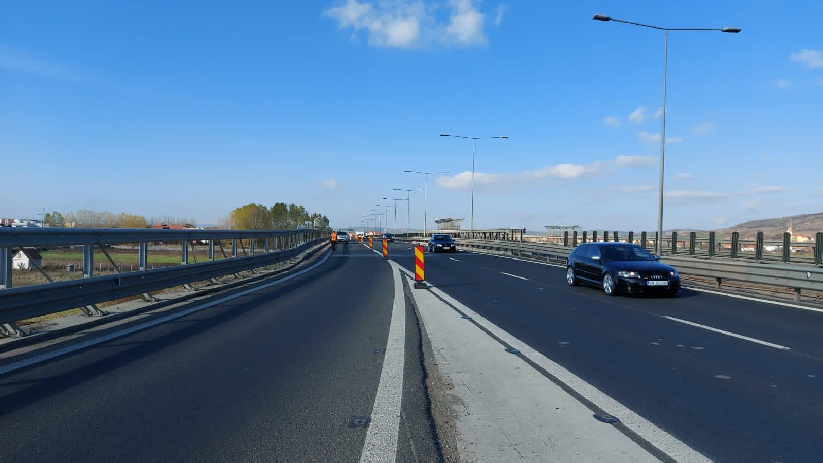 Circulaţie restricţionată timp de patru zile pe A1, în zona Săliște, pentru efectuarea de lucrări