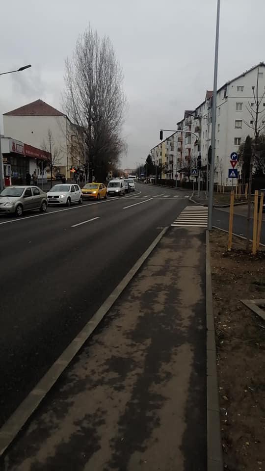 Poliția Rutieră testează reintroducerea semaforului la intrare în Sibiu dinspre Cartierul Arhitecților
