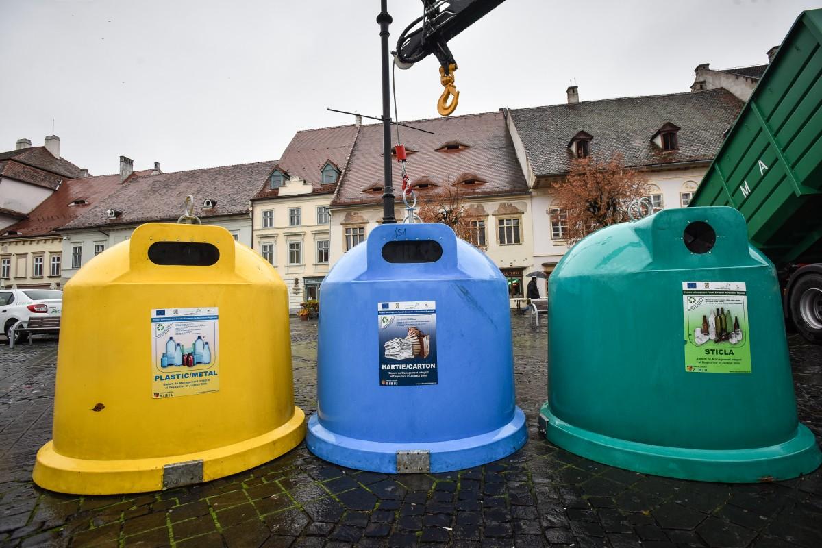 Cele trei cazuri în care sibienii vor plăti dublu pentru deșeuri. Cum se schimbă, de la anul, sistemul de colectare