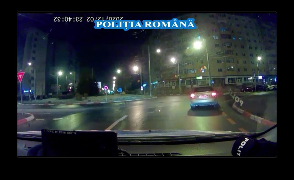 VIDEO-Sibian fără permis, urmărit de Poliție pe Bulevardul Mihai Viteazu