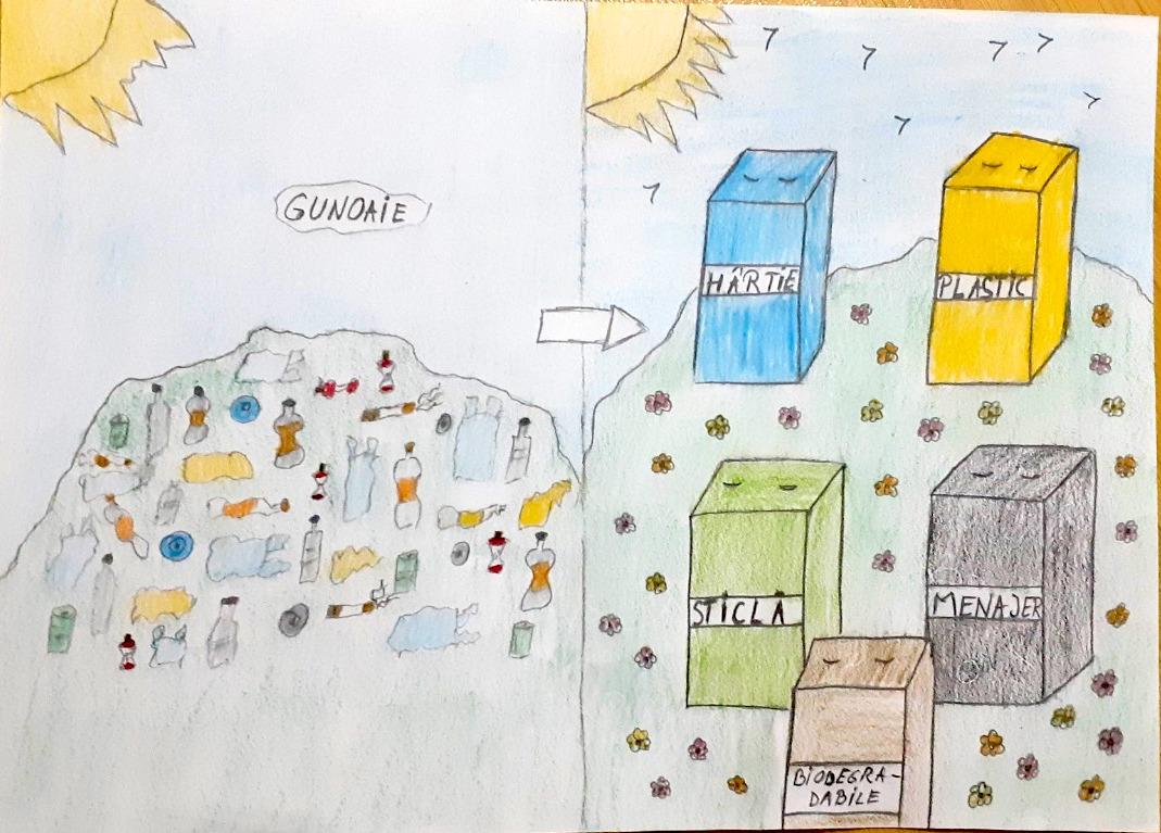 FOTO Lăsați elevii Sibiului să vă vorbească despre deșeuri. Și priviți-le desenele!