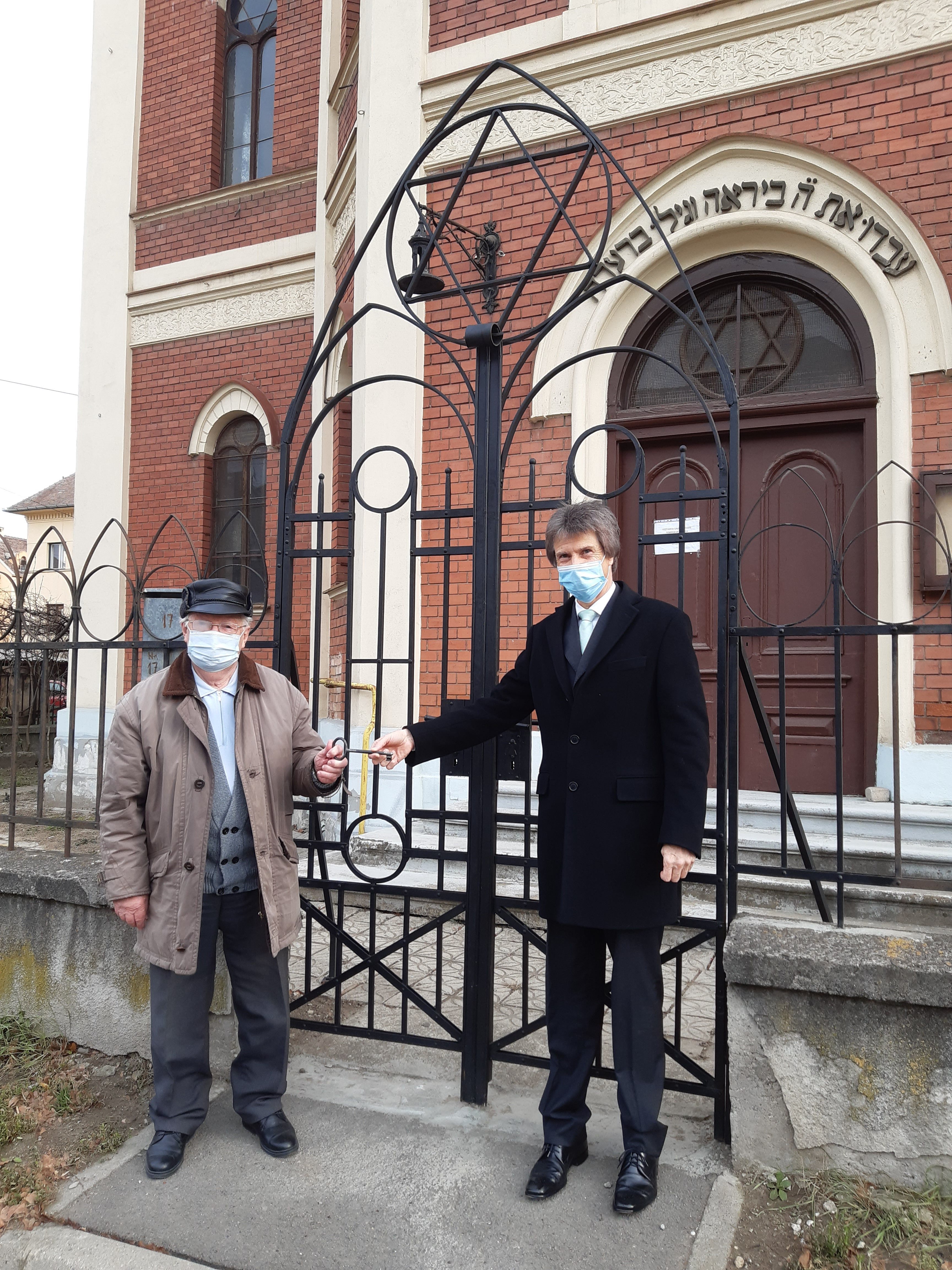 """Poarta Sinagogii din Sibiu, reabilitată cu sprijinul Ministerului de Externe al Germaniei. """"Consulatul salută diversitatea religioasă"""""""