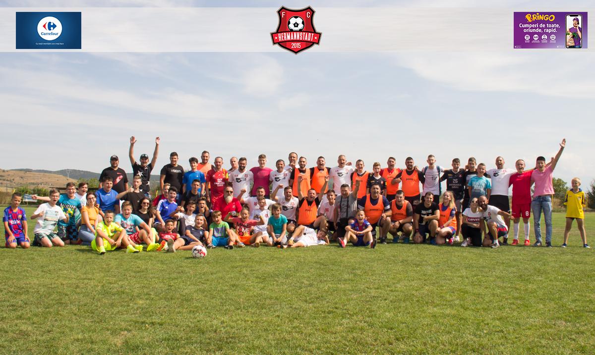 GALERIE FOTO: Suporterii au jucat fotbal cu oficialii FC Hermannstadt