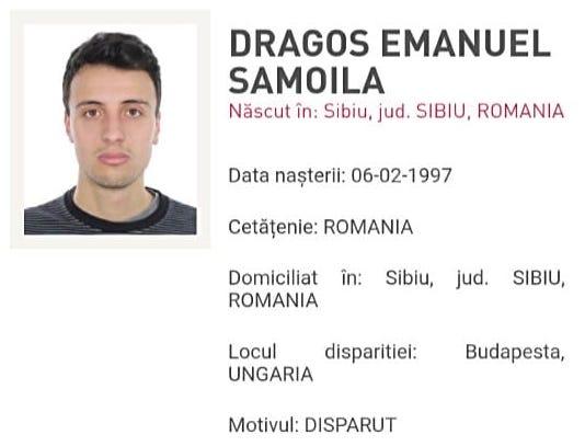 Un sibian de 22 de ani este căutat, după ce a dispărut în Budapesta