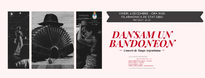 Concert de tango argentinian, la Sibiu. Se strâng fonduri pentru un instrument muzical