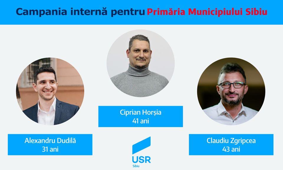 Trei USR-iști intră în finala pentru candidatura la Primăria Sibiu