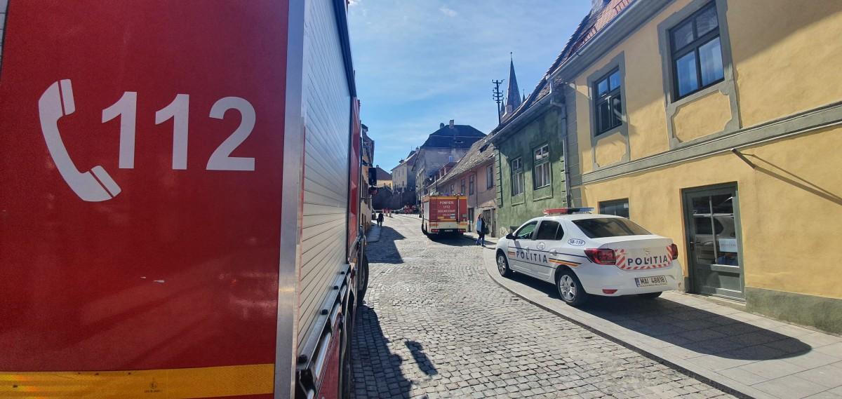 Tavanprăbușit,într-o clădire din centrul istoric al Sibiului