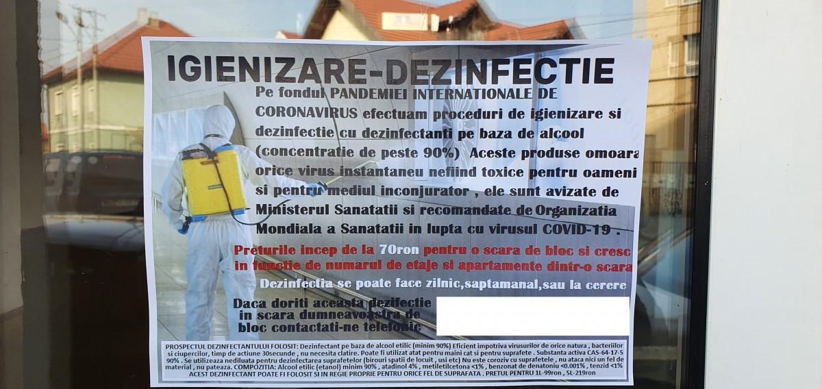 Sibieni înșelați cu substanțe anti coronavirus. 70 de lei - sesiunea de dezinfectare