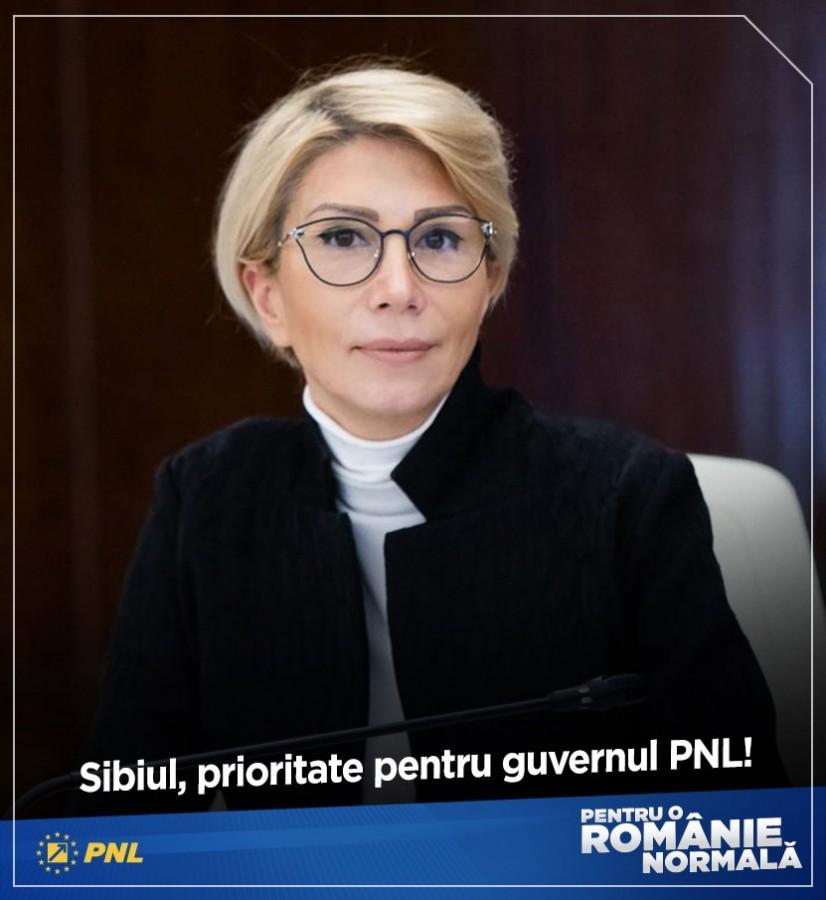 Sibiul, prioritate pentru guvernul PNL!