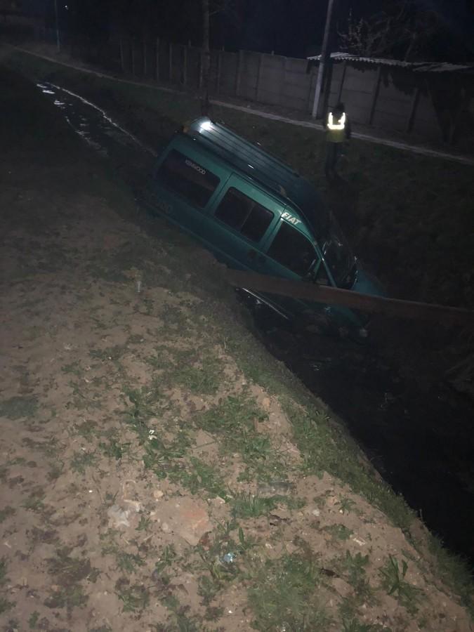 Două persoane au fost rănite, după ce au ieșit cu mașina în afara drumului, la Moșna