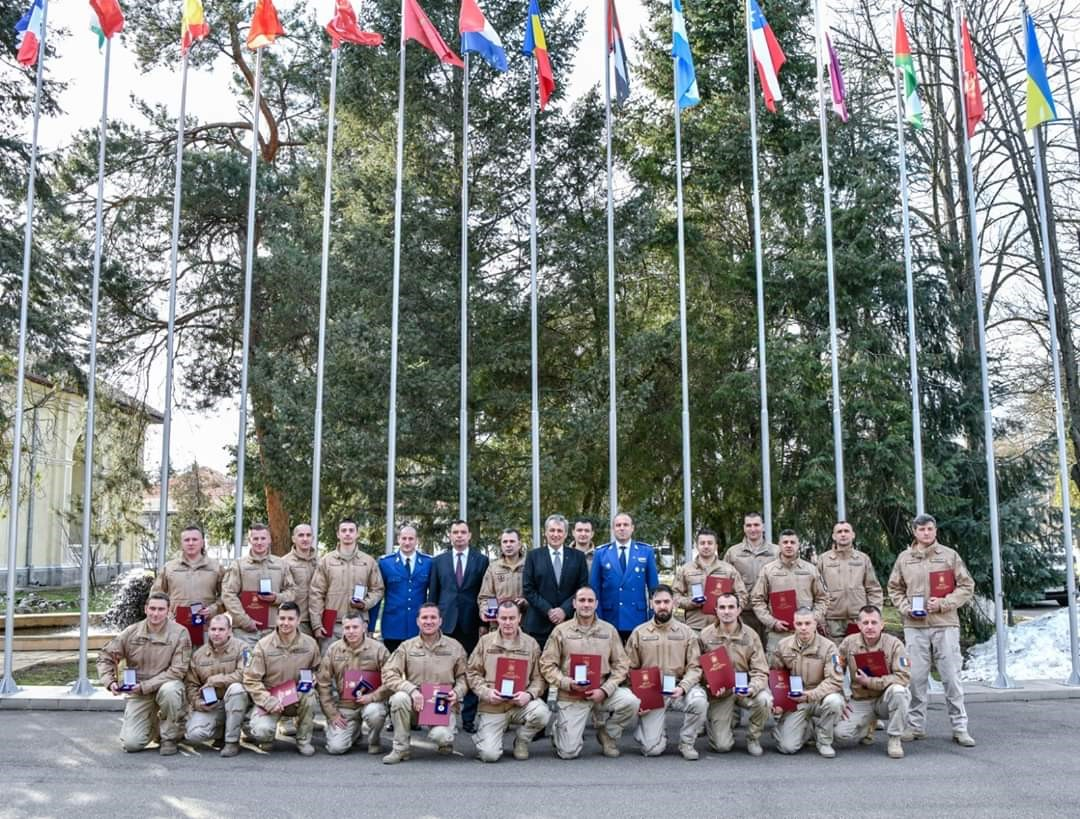 Un jandarm sibian a fost recompensat de U.S.Army și de Ministerul Afacerilor Interne