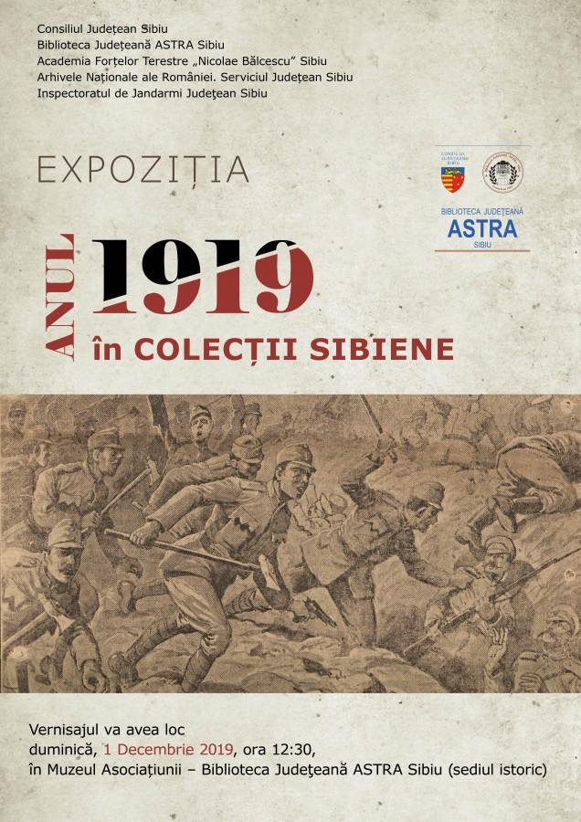 Biblioteca Astra: Expoziția Anul 1919 în colecții sibiene