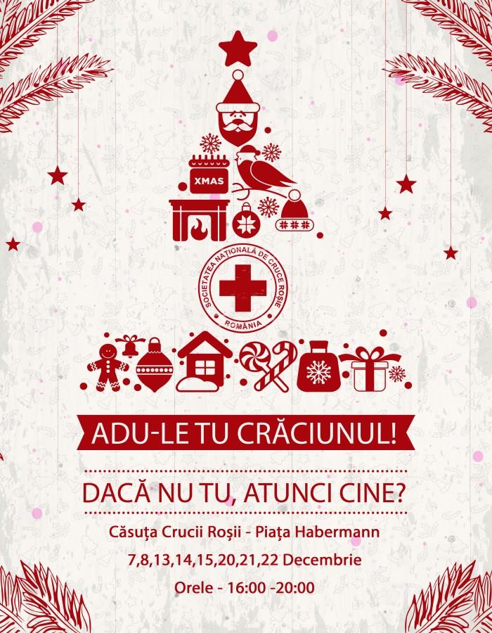 """""""Adu-le tu Crăciunul! Dacă nu tu, atunci cine?"""" Crucea Roșie începe campania pentru ajutorarea familiilor nevoiașe"""