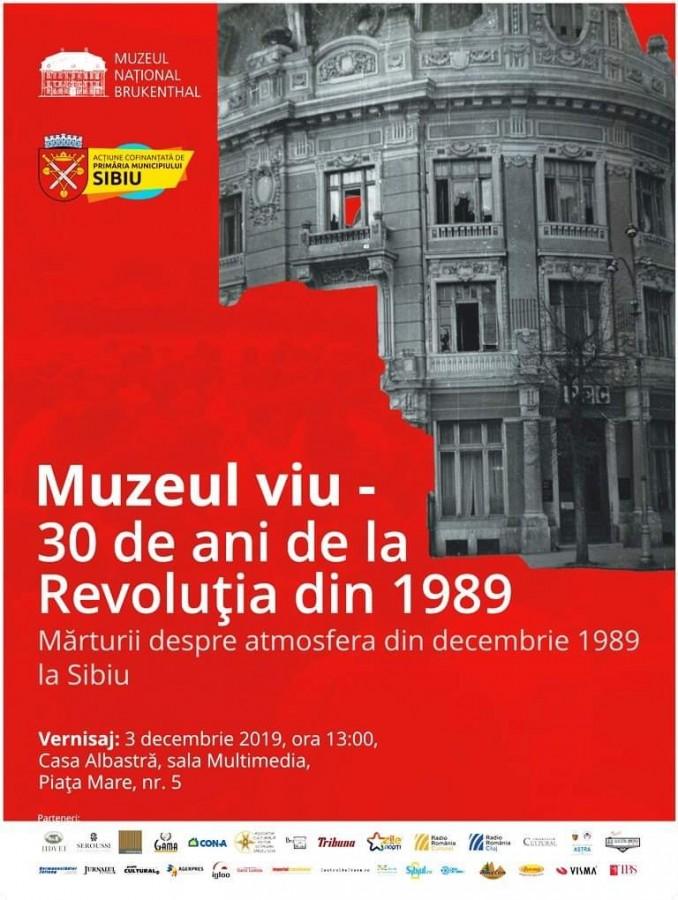 """""""Mărturii despre atmosfera din decembrie 1989, la Sibiu"""". Expoziția include donațiile sibienilor"""