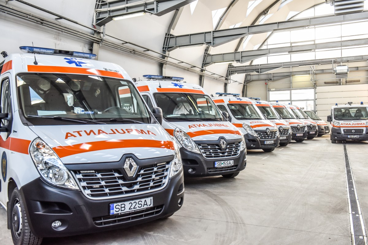 Ambulanța Sibiu a răspuns în 2019 la peste 60.000 de solicitări. Rată de succes peste medie, la resuscitări