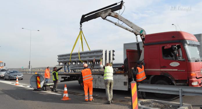 Premieră pe Valea Oltului: CNAIR montează atenuatori de impact