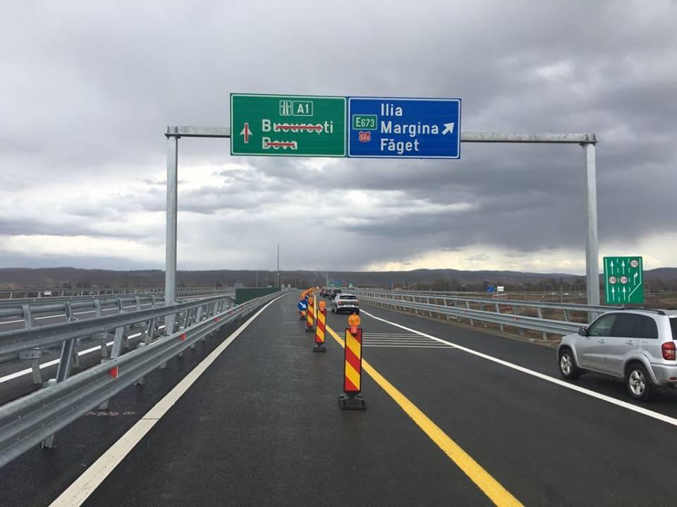 Încep asfaltările pe autostrada Sibiu-Deva