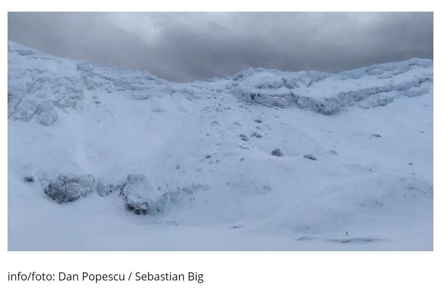 Avalanșă autodeclanșată la Bâlea Lac. Stratul nou de zăpadă este instabil