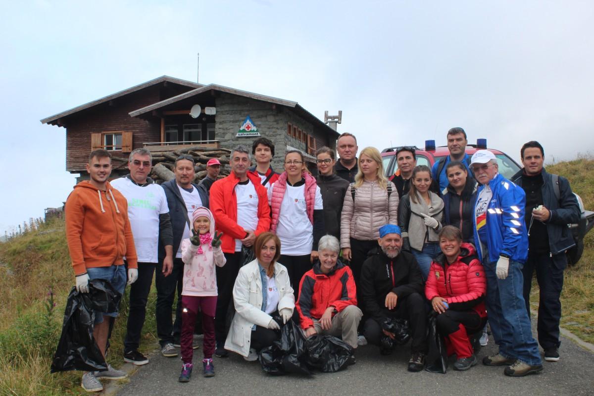 Consiliul Județean Sibiu la Bâlea Lac de Ziua Națională de Curățenie