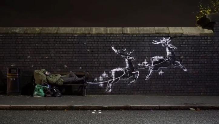 O nouă pictură murală realizată deBanksy a apărut înBirmingham