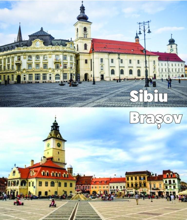 Piața Sfatului din Brașov se modernizează. Piața Mare, luată ca exemplu