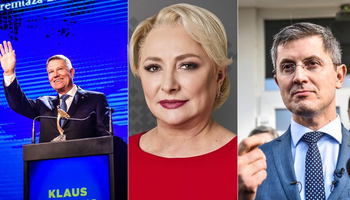 """Reacțiile celor trei: Iohannis – """"Victorie"""",Barna – """"Atenție la numărarea voturilor"""", Dăncilă: """" Mulțumesc primarilor"""""""