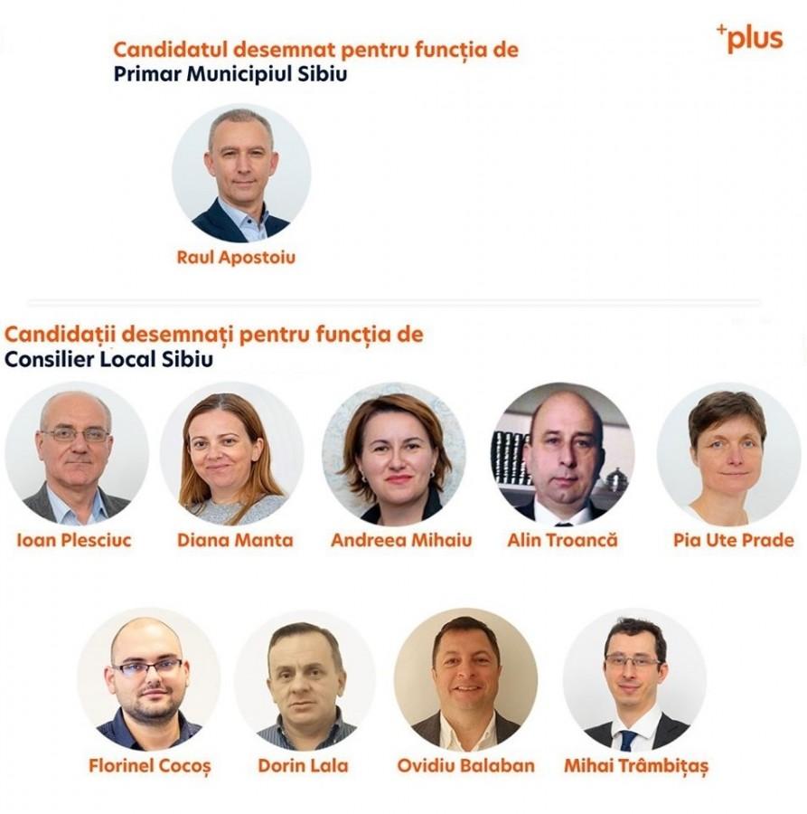 Candidații PLUS pentru Primăria Sibiu