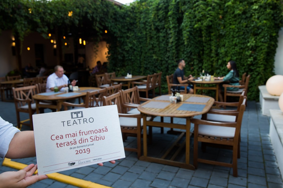 """Teatro și Atrium au câștigat concursul """"Cea mai frumoasă terasă din Sibiu - 2019"""""""