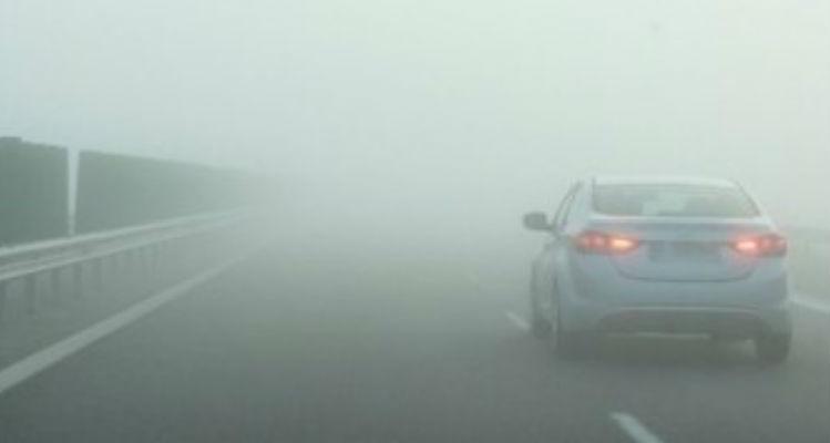 Cod galben de ceață în mai multe localități din județul Sibiu