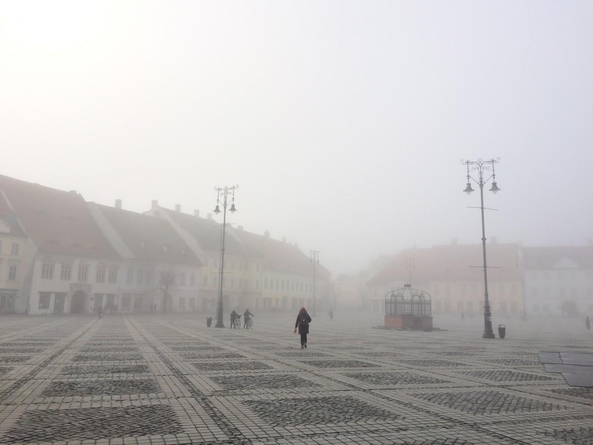Cod galben de ceață în județul Sibiu. Atenție la drum!