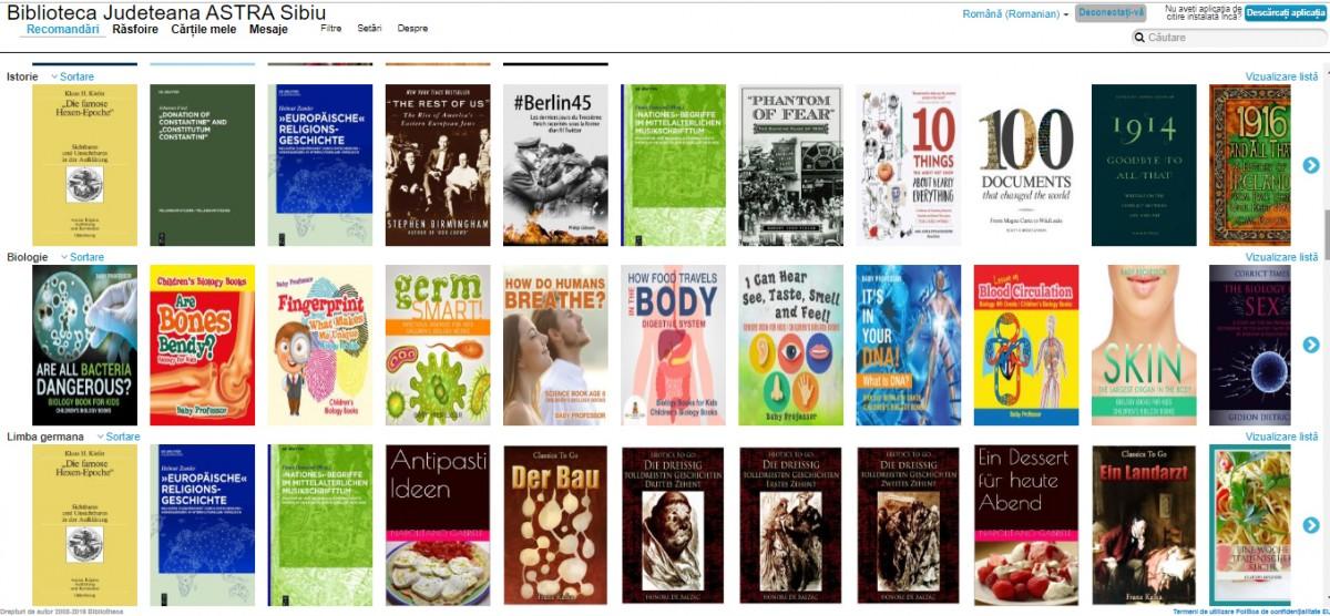 CLOUD LIBRARY – Cărți electronice disponibile la Biblioteca ASTRA