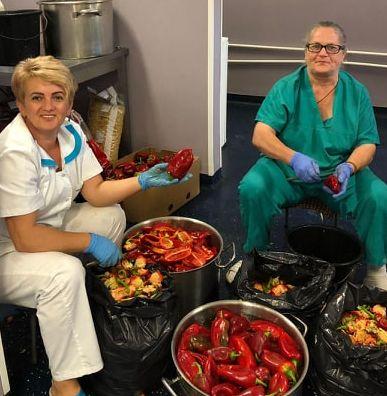 Sute de kilograme de legume conservate pentru hrana pacienților Spitalului de Pneumoftiziologie