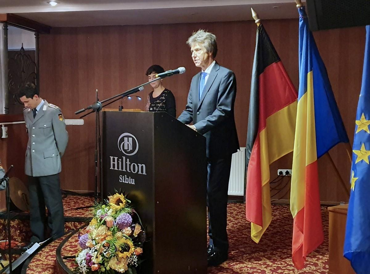 Ziua Unității Germaniei, celebrată la Sibiu: de la comunism la democrație nu se ajunge peste noapte