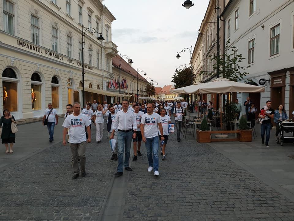 Dan Barna: Sibiul este în top 3 după numărul de semnături în susținerea candidaturii la prezidențiale