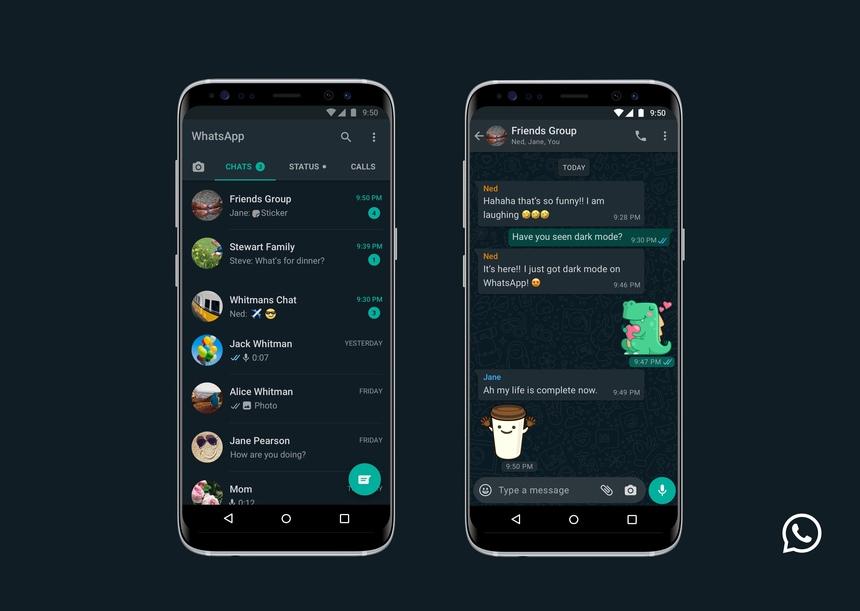 Aplicația WhatsApp va avea funcție Dark Mode
