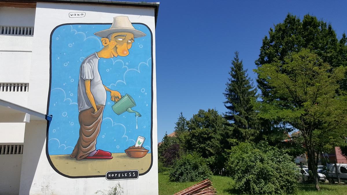 Schimbarea la față a Sibiului: 16 noi lucrări de artă stradală decorează pereții școlilor din oraș. Plus un bloc | Foto și video
