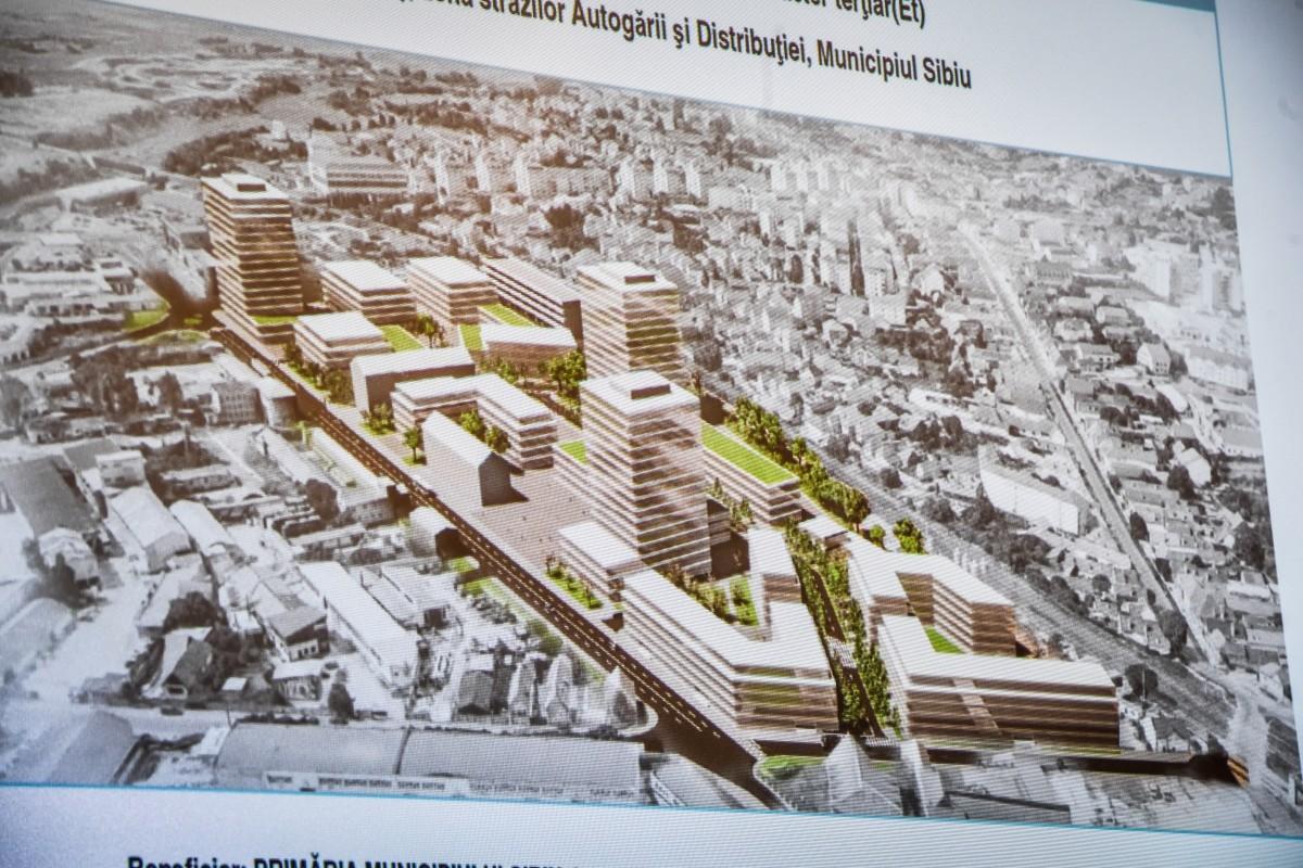 Schimbarea la față a Sibiului: trei turnuri de 14 etaje și 5.000 de locuri de muncă în zona DPC