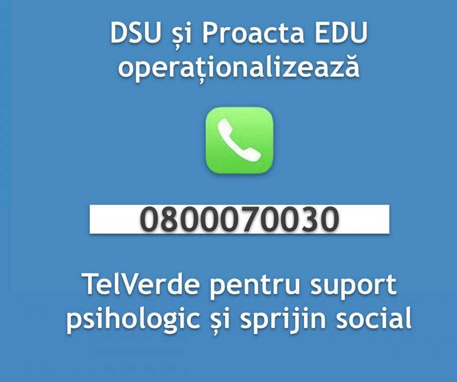 Coronavirus: O nouă linie TelVerde disponibilă românilor, pentru sprijin psihologic și social