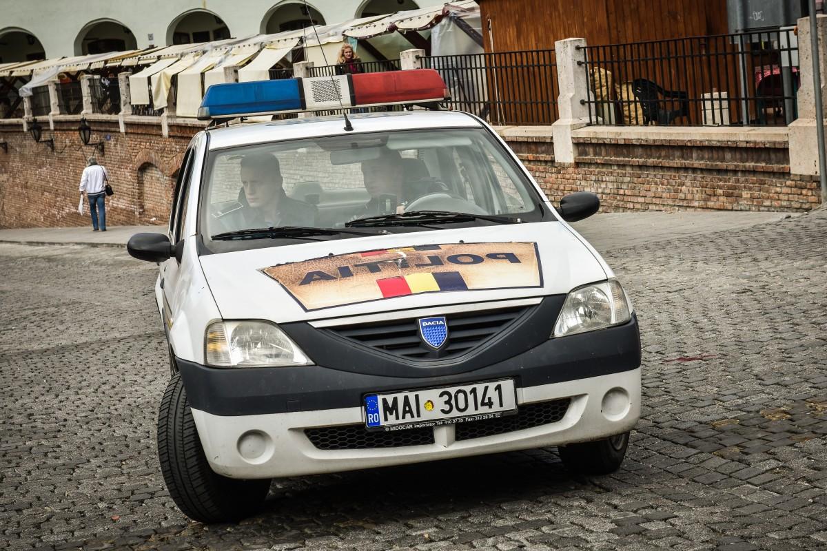 Din autospecialele poliției va răsuna astăzi Imnul României, în toată țara