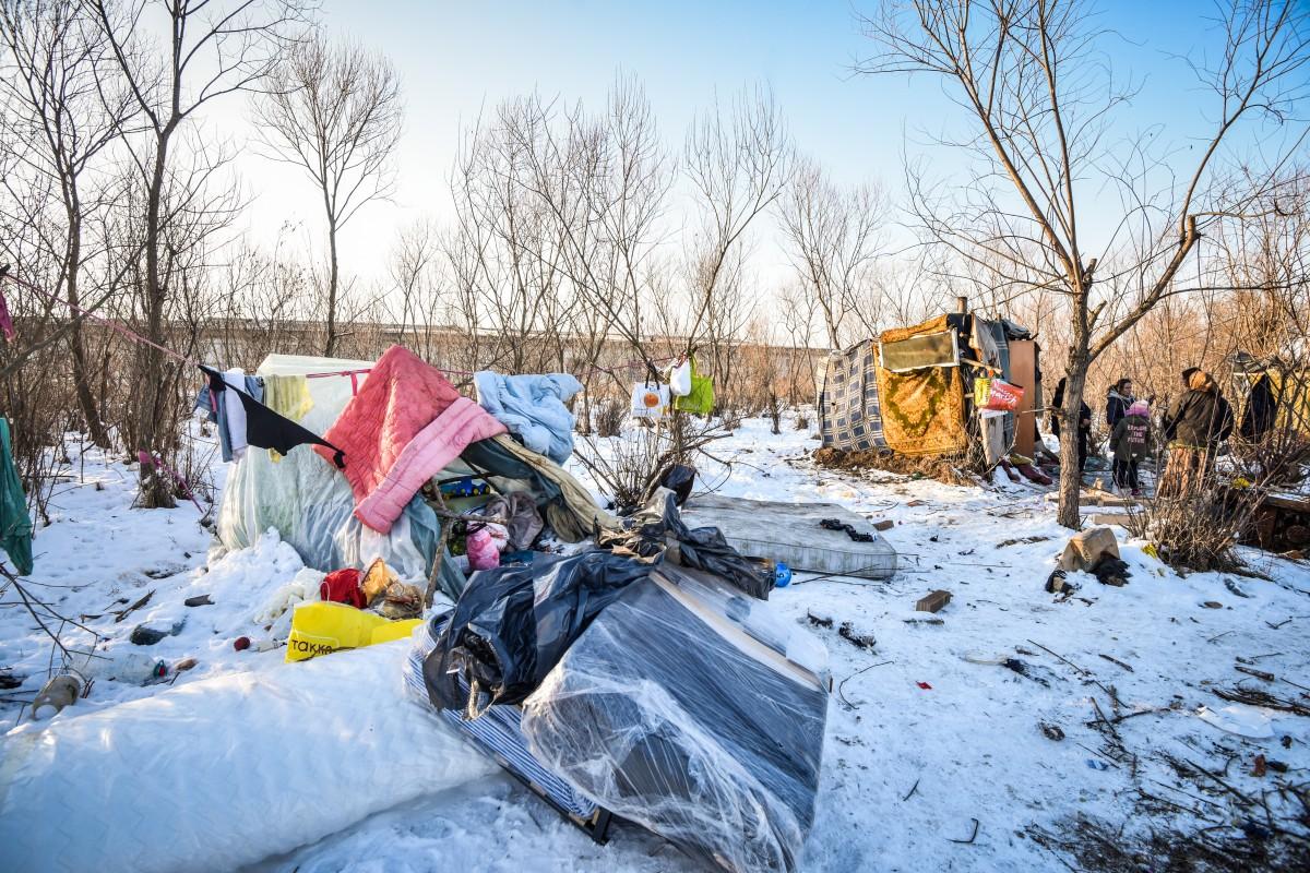 """Autoritățile sibiene în cazul familiei care trăiește cu copiii în câmp: """"Au refuzat ajutorul"""""""