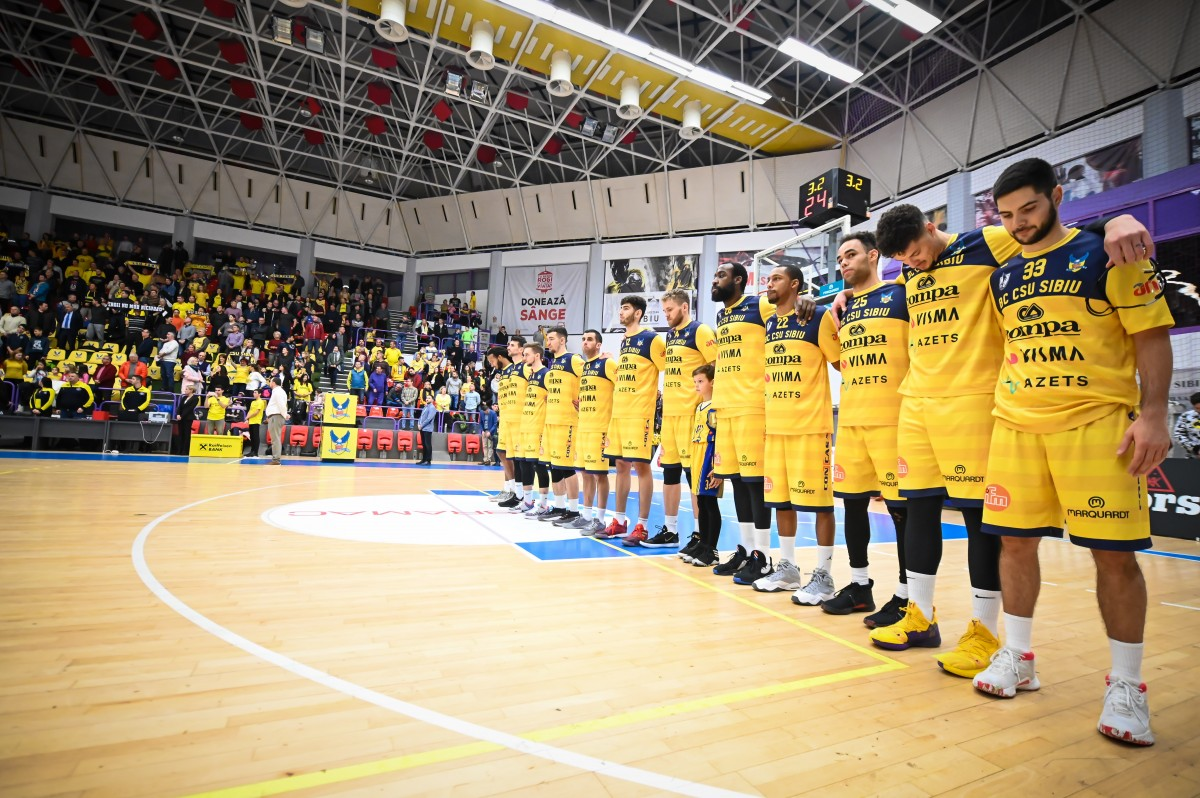 BC CSU Sibiu a câștigat meciul disputat acasă cu Craiova