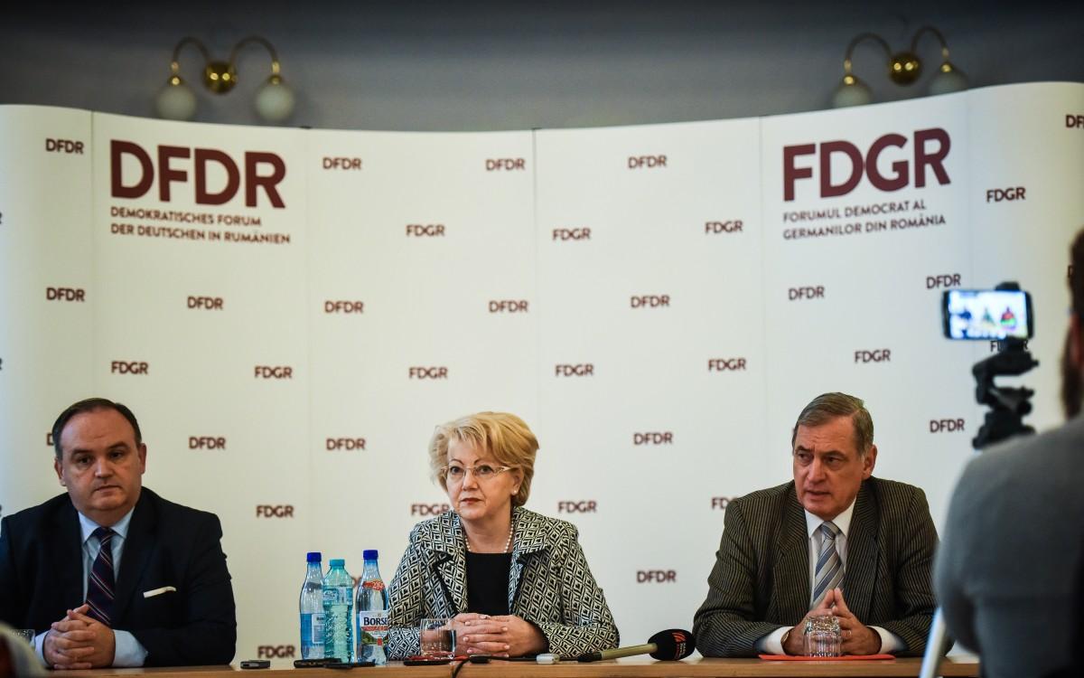 FDGR susține candidatura lui Iohannis la funcția de președinte al României