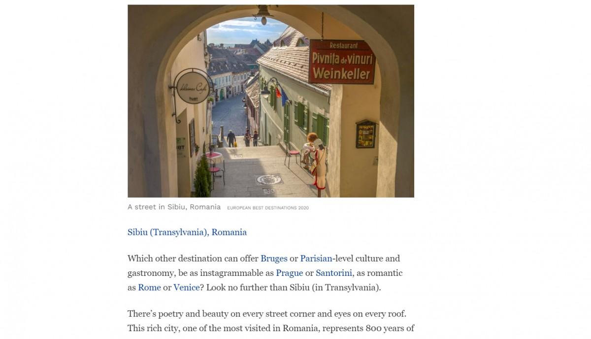 Sibiul, din nou în prestigioasa publicație Forbes