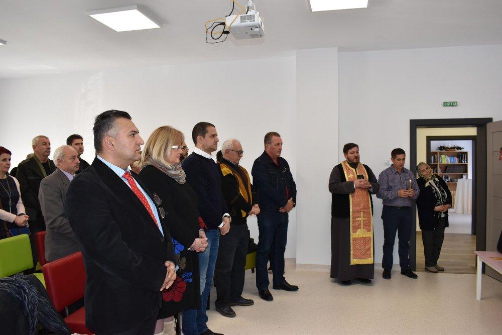 Bogdan Trif, Președintele PSD Sibiu și primarul comunei Hoghilag, Nicolae Lazăr au inaugurat una din cele mai moderne grădinițe din țară