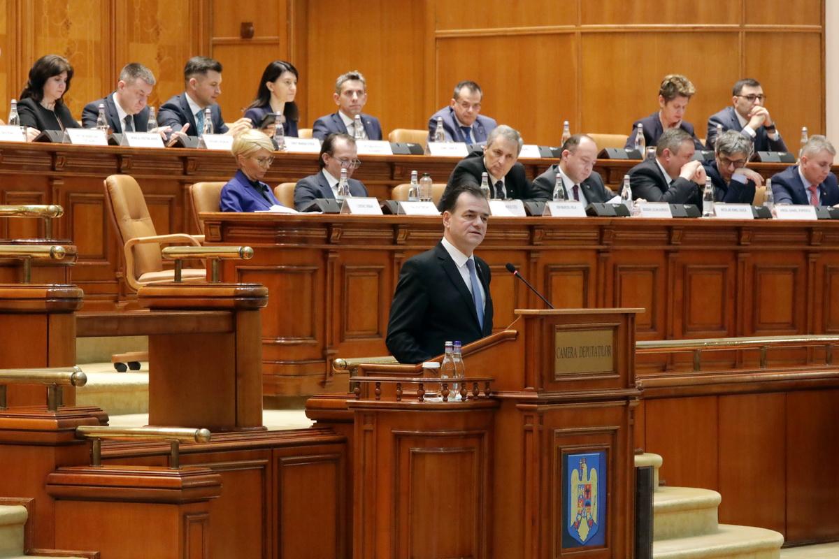 Lista Guvernului Orban 2 a fost depusă la Parlament