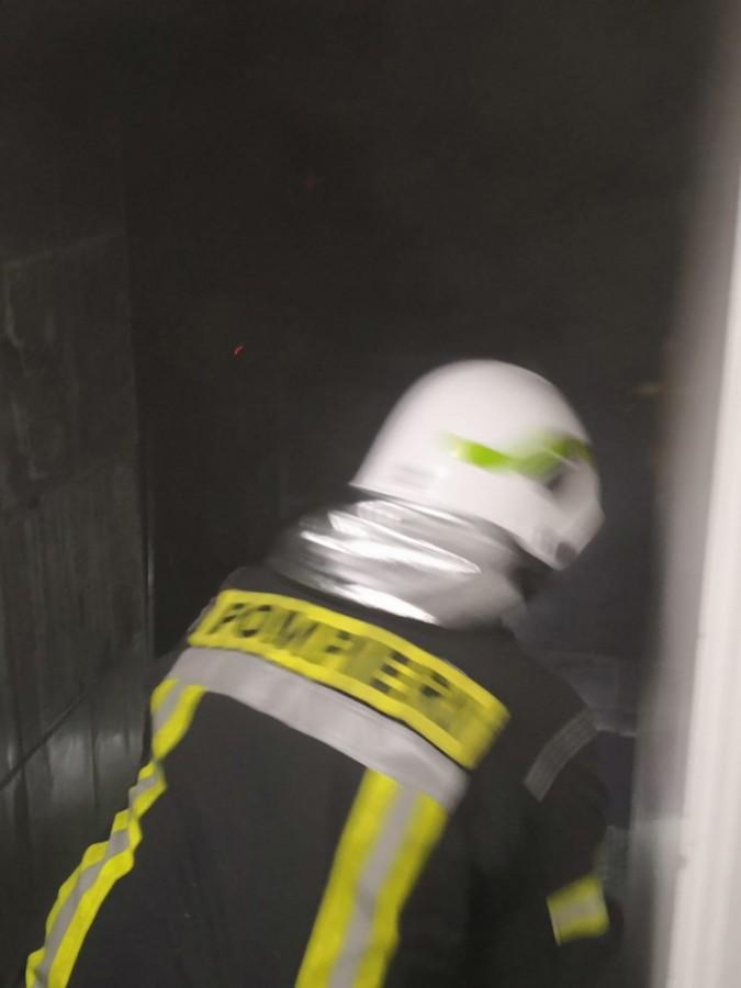 Incendiu în turnul bisericii de pe strada Maramureșului