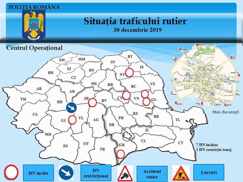 Centrul Infotrafic al Poliției Române: Autostrăzile și drumurile naționale sunt deszăpezite