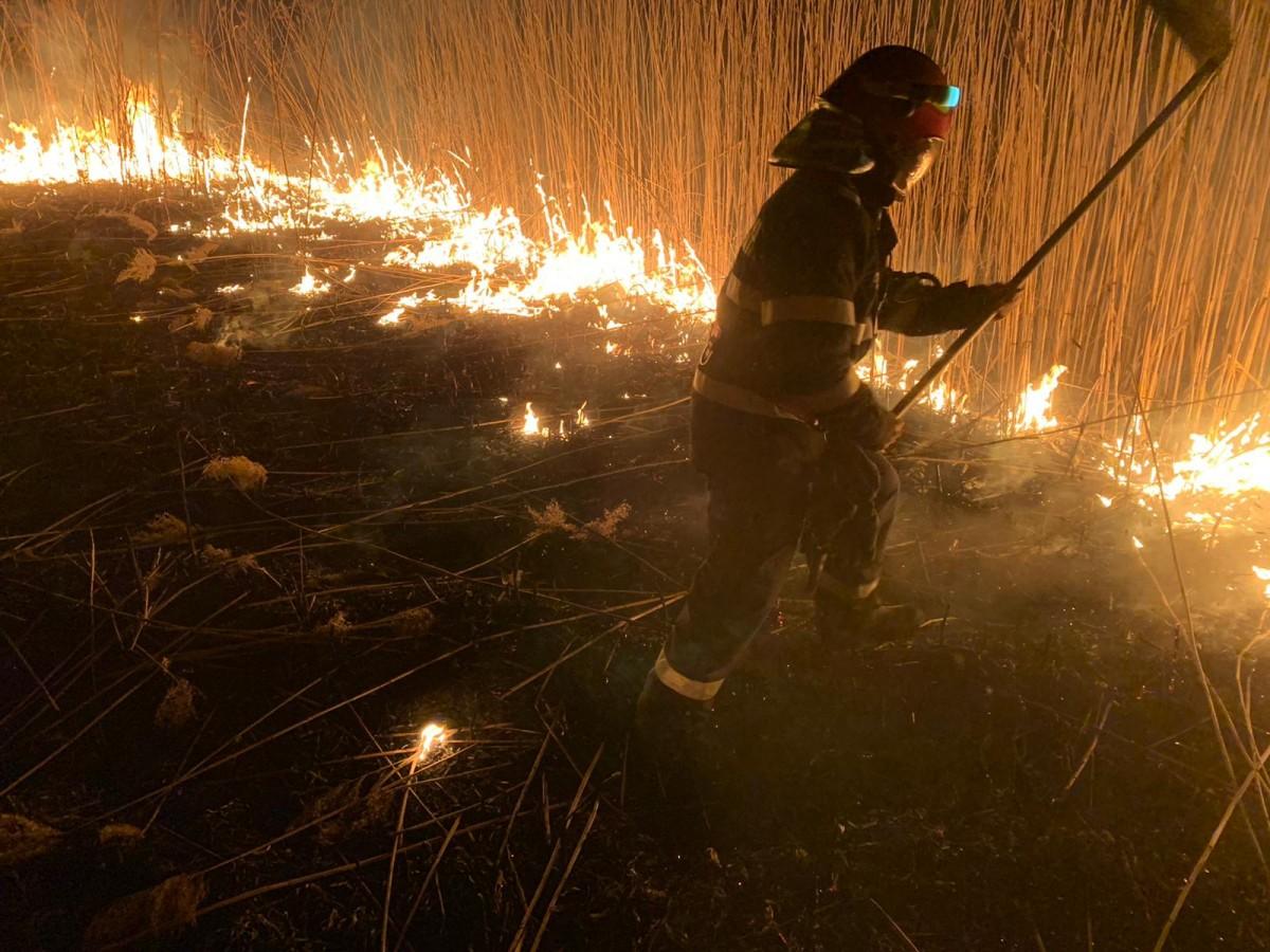 ISU Sibiu: Peste 20 de ha distruse în incendii devegetații uscate